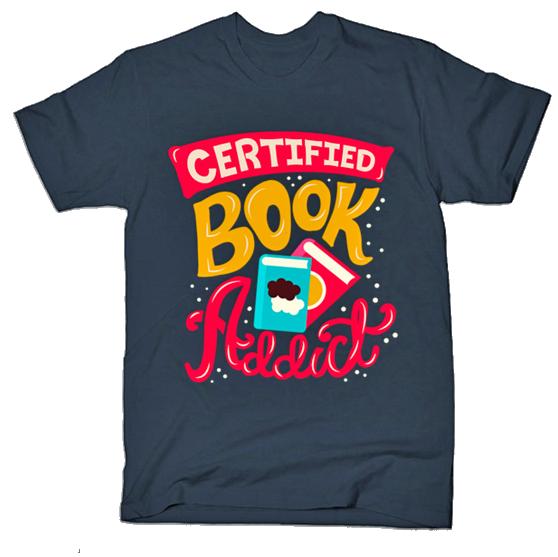 Certified Book Addict tshirt