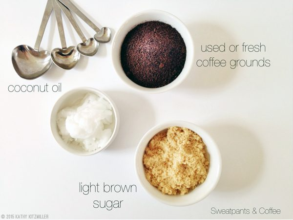 DIY Coffee Scrub ingredients