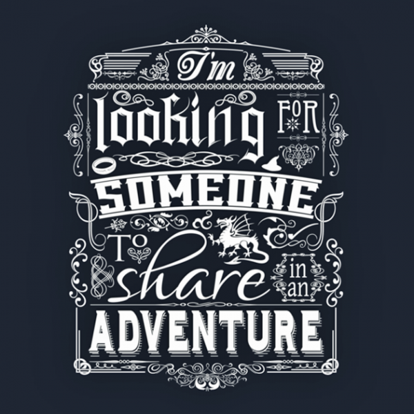 Gandalf Share In An Adventure tshirt closeup