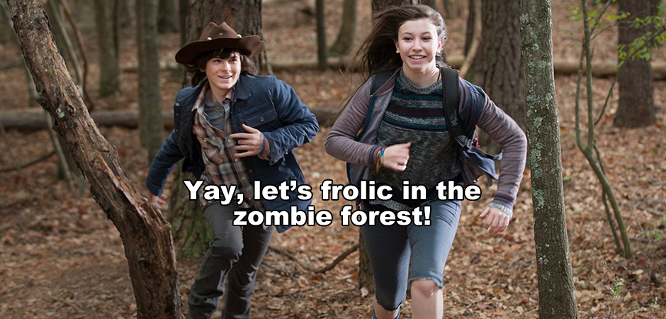 The Walking Dead s5e15 Carl Katelynn_