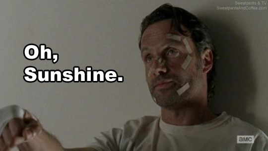 The Walking Dead s5e16 Rick sunshine