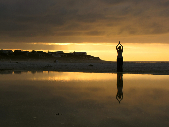 Yoga at Dusk by Chris Preen