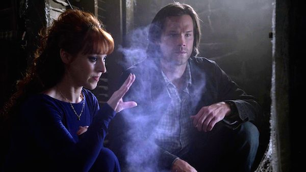 18 Supernatural Season Ten Episode Nineteen SPN S10E19 The Werther Project Sam Winchester Jared Padalecki Rowena Ruth Connell
