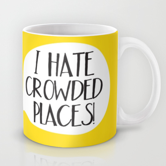 I Hate Crowded Places by Mjulko