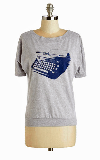 Fact: Lady nerds either own a vintage typewriter or covet one.