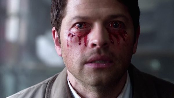 33 Supernatural Season Ten Episode Twenty Three SPN S10E23 Brothers Keeper Castiel Misha Collins Eyes Bleeding Blood