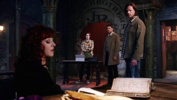 9 Supernatural Season Ten Episode Twenty One SPN S10E21 Dark Dynasty Charlie Bradbury Felicia Day Misha Collins Castiel Sam Winchester Jared Padalecki Rowena Ruth Connell
