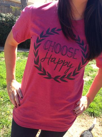 Live Simple Tees_Choose Happy