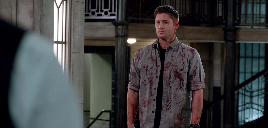 Slide_Supernatural Season Ten Episode Twenty Two SPN S10E22 The Prisoner Dean Winchester Jensen Ackles Bloody Styne