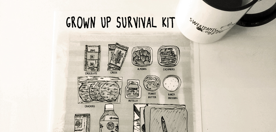 Grown up survival kit slide