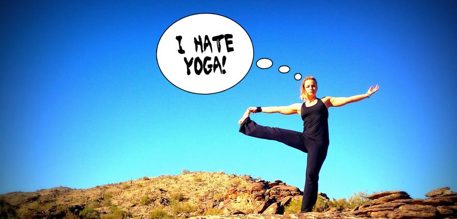 I hate yoga slide