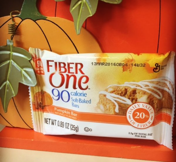 5) Fiber One Pumpkin Bars