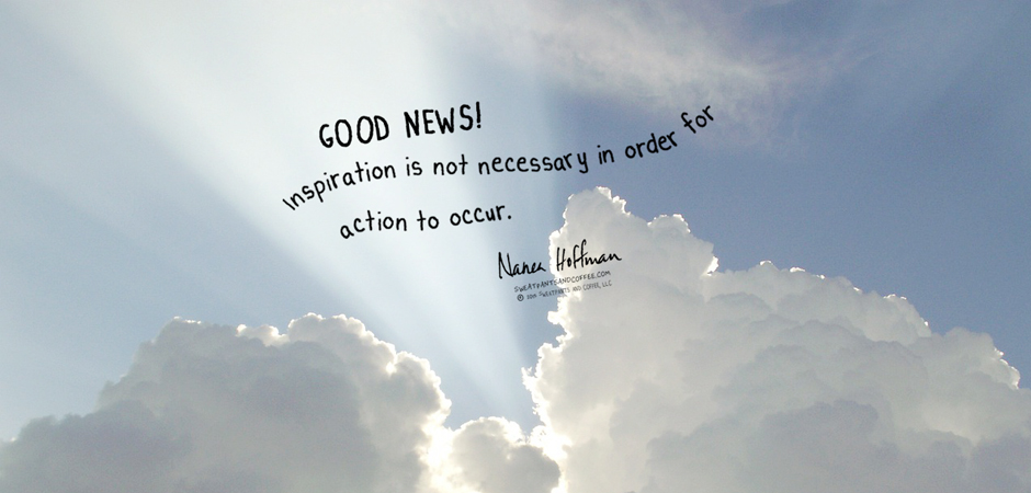 Inspiration is action WP