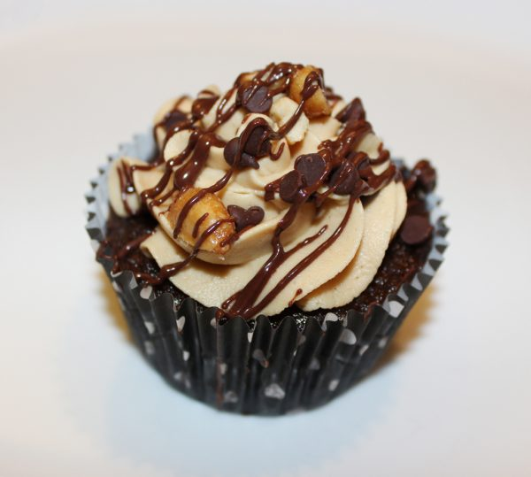 Peanut Butter Frosted Cupcake
