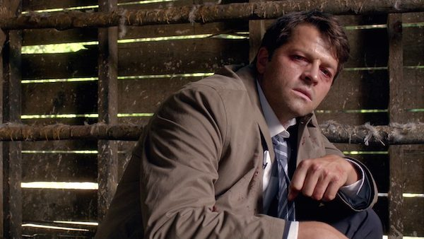 3 Supernatural SPN Season Eleven Episode One S11E1 Out of the Darkness Into the Fire Misha Collins Castiel