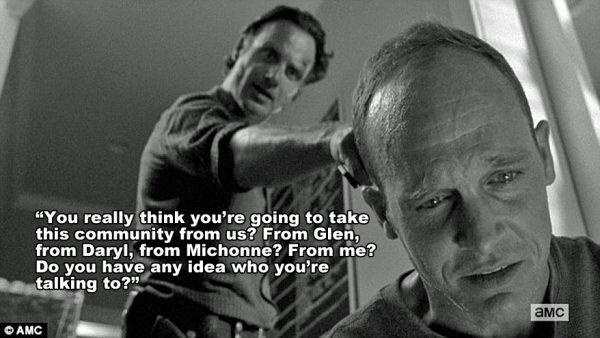 Walking Dead s6E1 Rick and Carter