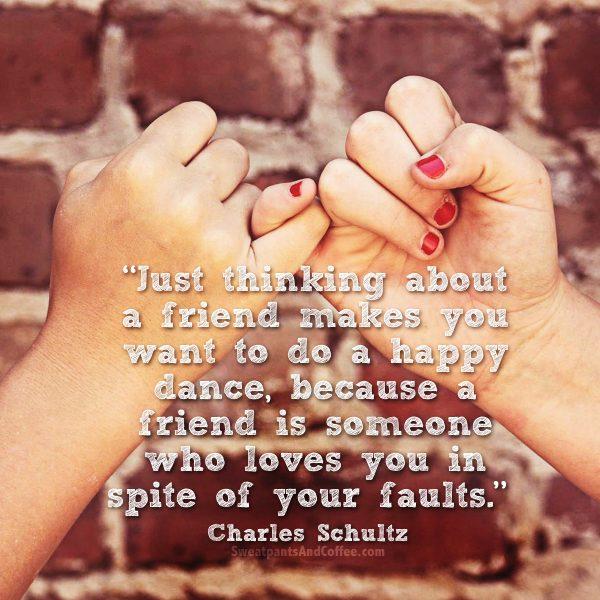 10 - Charles Schultz quote happy dance