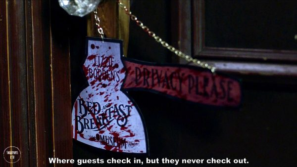 2 Supernatural Season Eleven Episode Five Thin Lizzie Room Sign