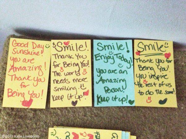 Katie Lovebomb gratitude list