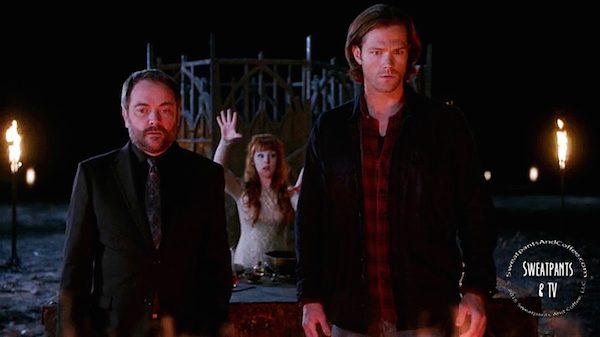 14 Supernatural SPN Season Eleven Episode Nine S11E9 O Brother Where Art Thou Mark Sheppard Ruth Connell Jared Padalecki Sam Winchester Crowley Rowena