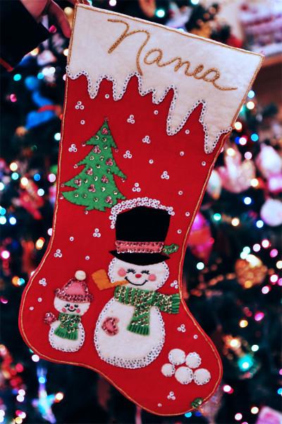 Nanea Hoffman_70s handmade Christmas stocking