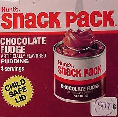 Snack Pack Pudding can