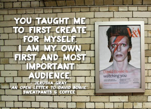 An Open Letter to David Bowie by Jerusha Gray