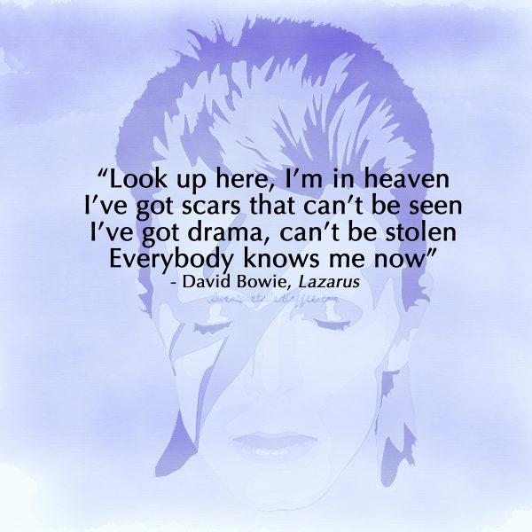 David Bowie quote Lazarus
