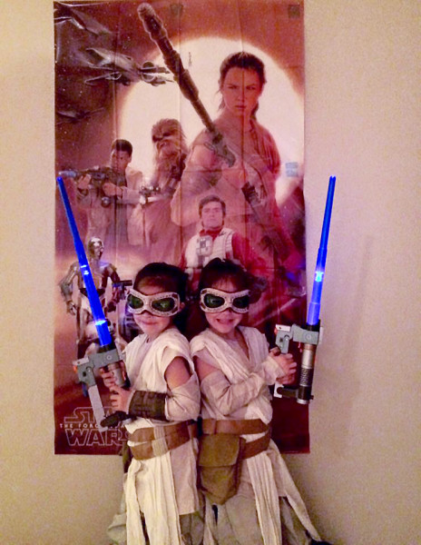 Madison Nanea Hager and Riley Malulani Hager, celebrating their 6th birthday as Rey.