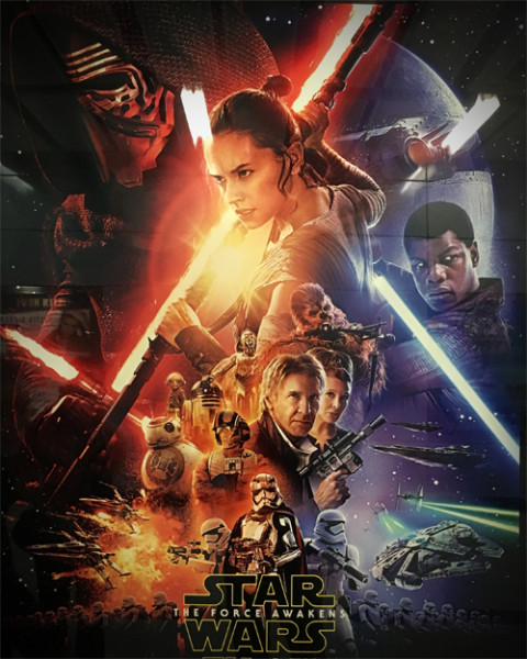 Star Wars: The Force Awakens photo by Brian Sterling, CC 2.0 license