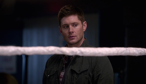 6 Supernatural SPN Season Eleven Episode Fifteen S11E15 Beyond the Mat Dean Winchester Jensen Ackles
