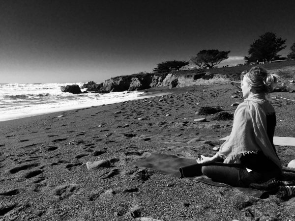 Woman-on-beach-in-Cambria