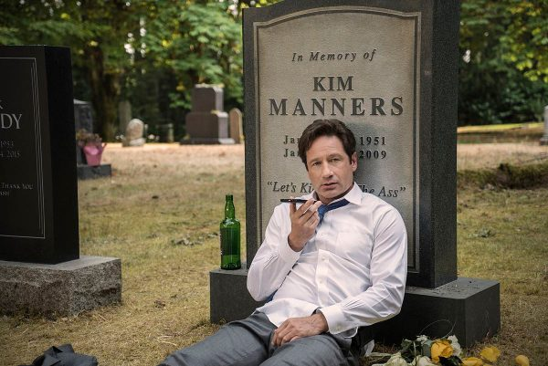 X-Files-s10e3-Mulder-and-Scully-Meet-the-Were-Monster-Kim-Manners-headstone