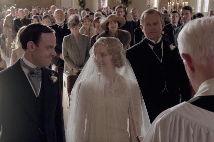 Downton Abbey Series Finale Edith Wedding