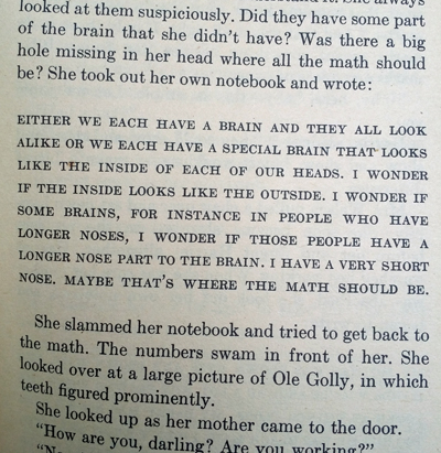 Harriet the Spy math brain