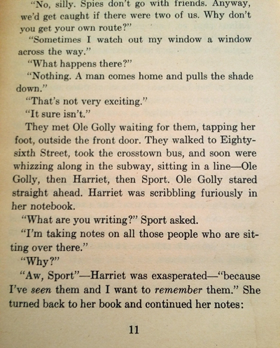 Harriet the Spy page 11