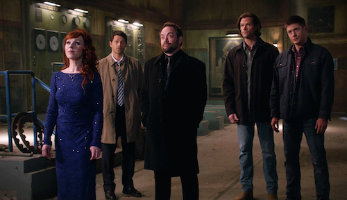 6 Supernatural Season Eleven Episode Twenty Two SPN S11E22 We Happy Few Rowena Sam Dean Winchester Castiel Crowley
