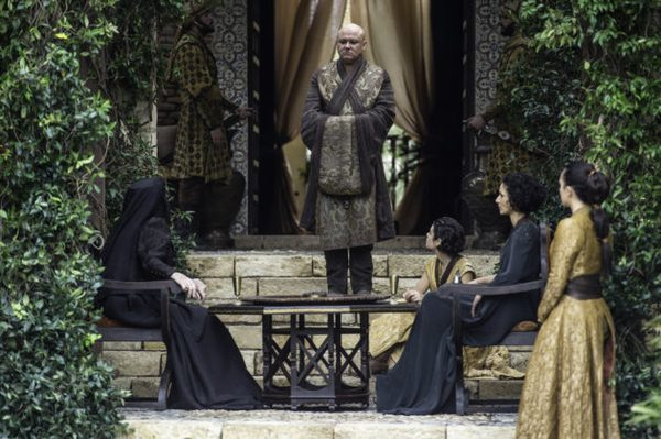 Photo 1. GoT 6x10 Varys, Olenna, and the Sand Snakes