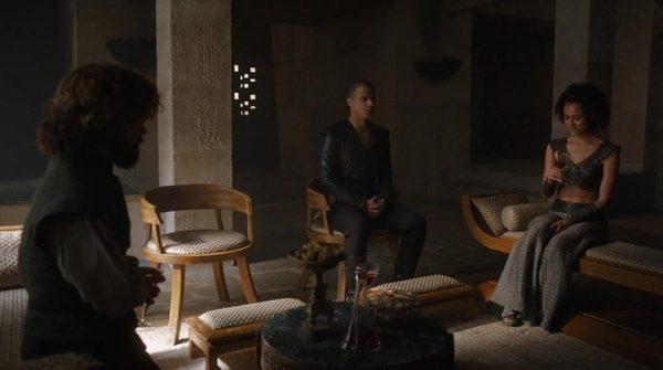 Photo 1. GoT 6x8 Tyrion, Grey Worm, and Missandei
