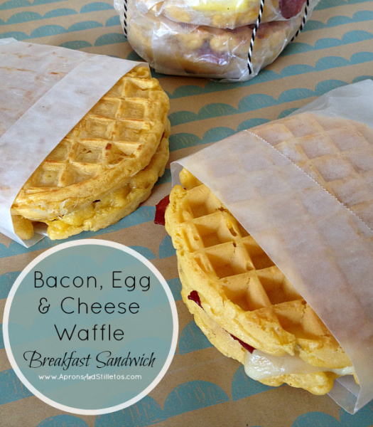 Aunt Jemima Bacon, Egg & Cheese Waffle Breakfast Sandwich 3