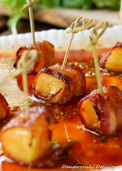 Applewood-Bacon-wrapped-Pineapple-in-Honey-Sriracha