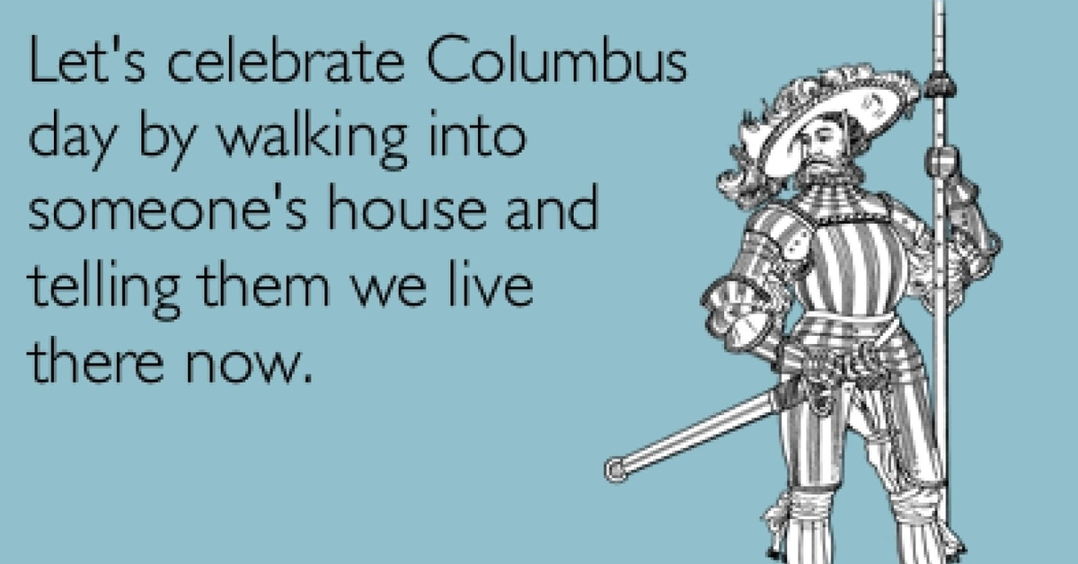 Anti Columbus Day Promo Large sweatpants & equality the real history behind columbus day