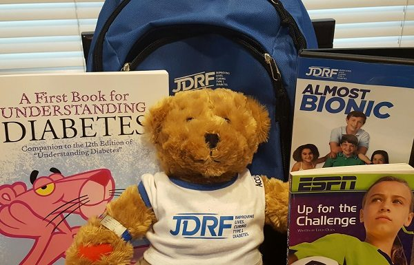 JDRF's Bag of Hope, given to new patients and families