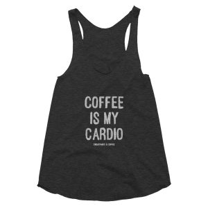 Coffee is my Cardio Women's racerback tank