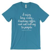 Coffee, Long Walks & Not Talking to People Unisex short sleeve t-shirt