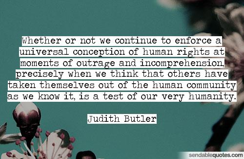 Photo 2. S&C Human Rights Day Judith Butler