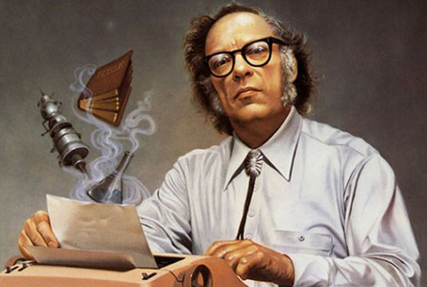 Photo 2. S&C National Science Fiction Day Asimov portrait
