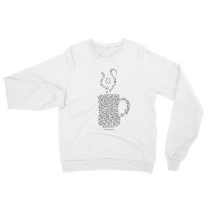 Mandala Mug Raglan sweater, dark print