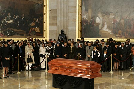 Photo 7. S&C Rosa Parks lying in honor in the Capitol Rotunda