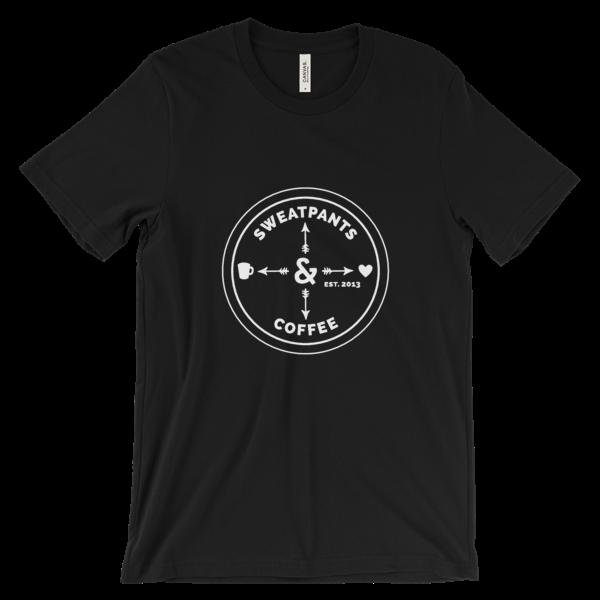 Sweatpants & Coffee Love Tee, White Design Unisex